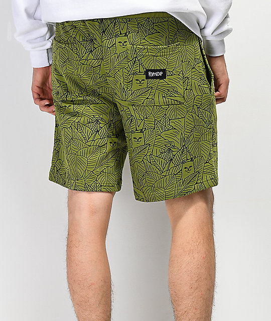 RIPNDIP Nermal Leaf Olive Sweat Shorts