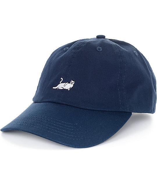 e3ae7324834 RIPNDIP Nermal Navy Baseball Hat