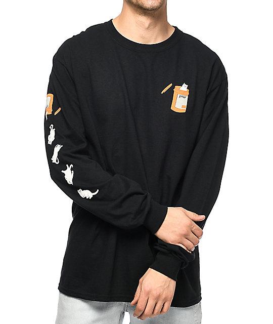 bf7701705c36 RIPNDIP Nermal Pills Black Long Sleeve T-Shirt