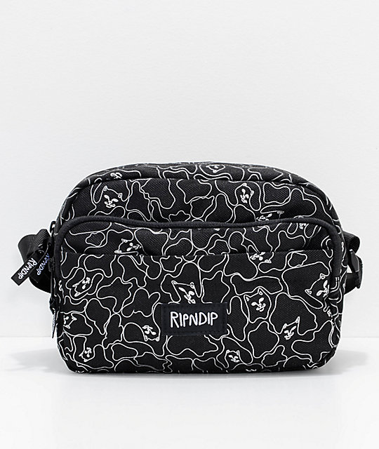 RIPNDIP Nermal Reflective Black Shoulder Bag
