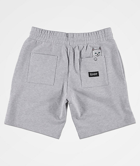 RIPNDIP Peek A Nermal Grey Sweat Shorts