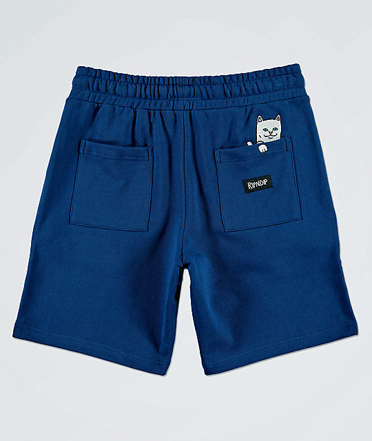 RIPNDIP Peek A Nermal Navy Sweat Shorts