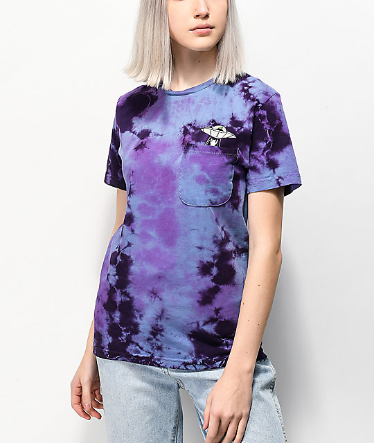 RIPNDIP Probe Purple Tie Dye Pocket T-Shirt