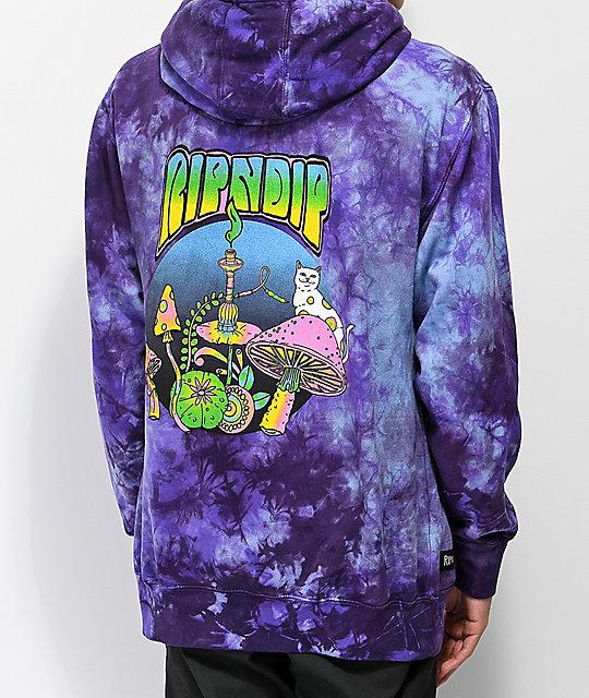 RIPNDIP Psychedelic Nerm Purple Tie Dye Hoodie  e8a0e45da