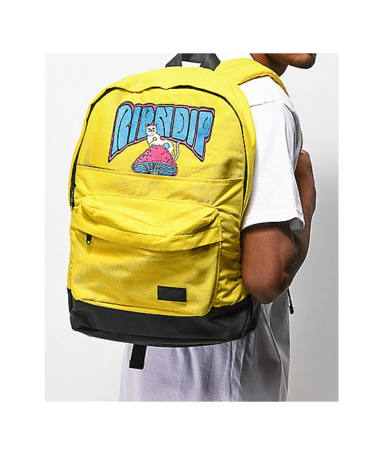 RIPNDIP Psychedelic Yellow Backpack