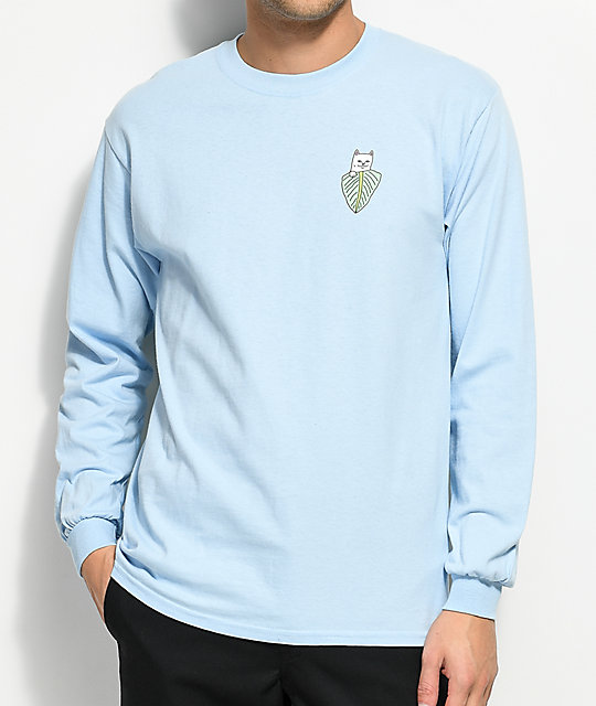 RIPNDIP Safari Nermal Light Blue Long Sleeve T-Shirt