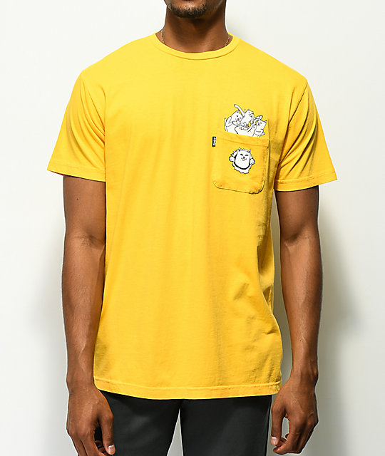 RIPNDIP Stuffed Gold Pocket T-Shirt