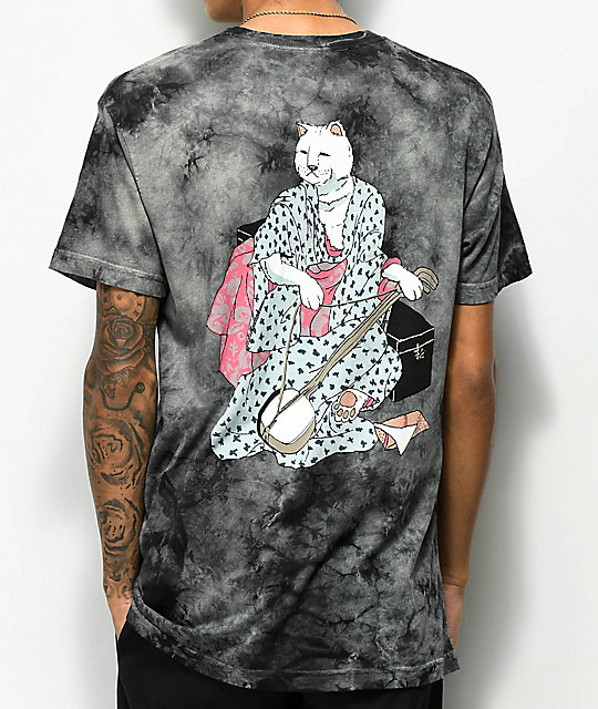 Ripndip Warrior Black Tie Dye T Shirt Zumiez