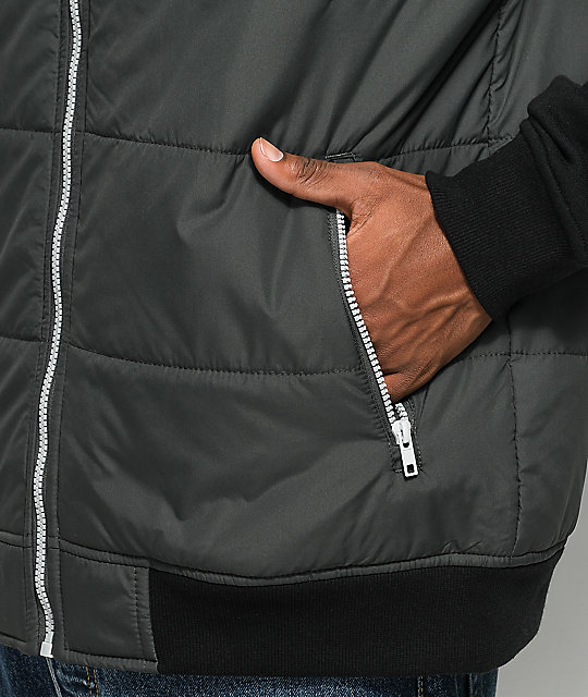RVCA 2Fer Charcoal & Black Puffer Jacket