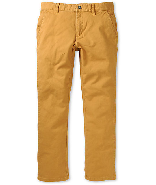 RVCA All Time Wheat Slim Fit Chino Pants