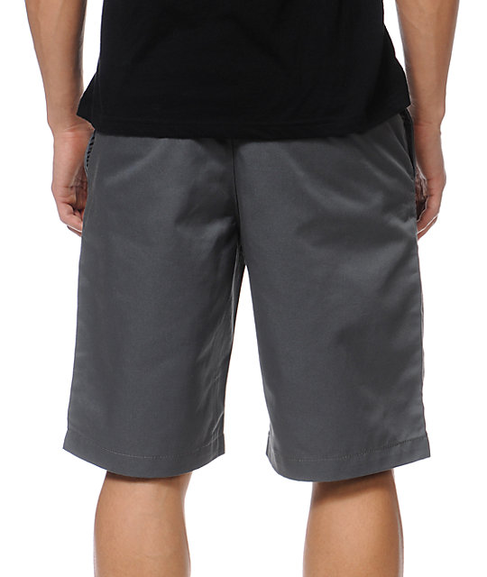 RVCA Americana Relaxed Fit Grey Chino Shorts