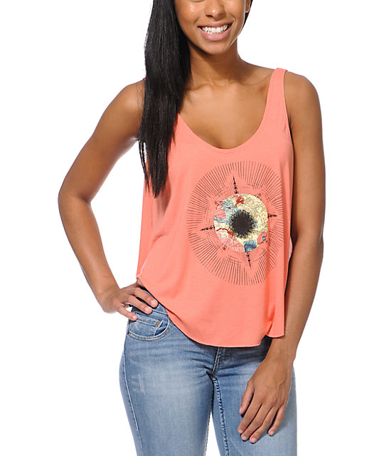 RVCA Apollo ANP Coral Tank Top