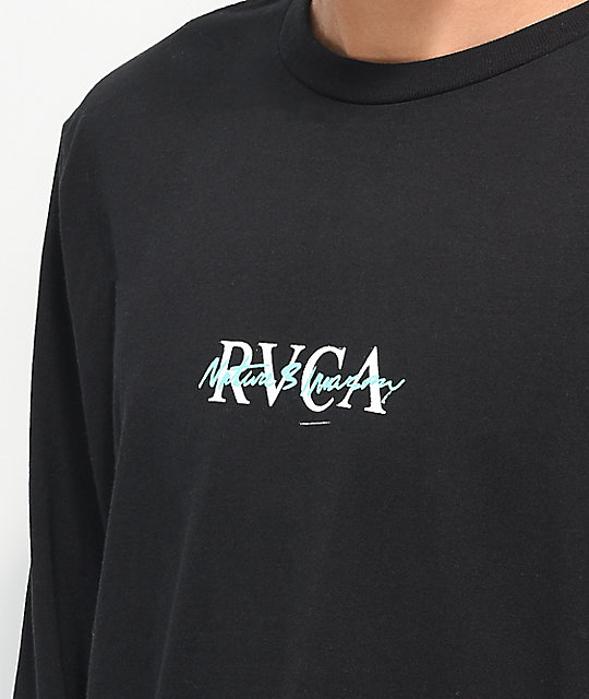 RVCA Balance Flyer Black Long Sleeve T-Shirt