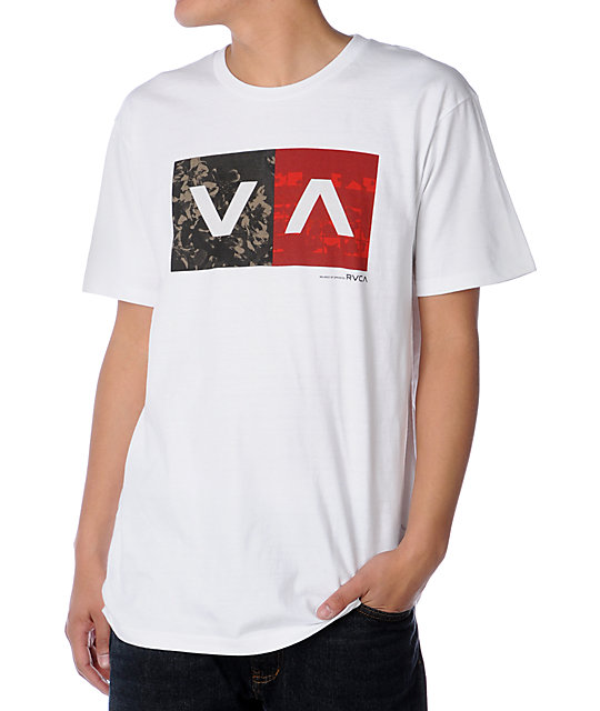 RVCA Balance Part 4 White T-Shirt