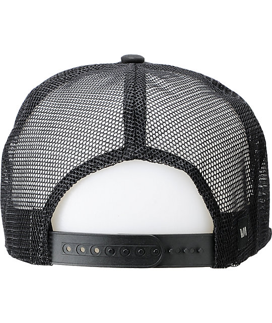... coupon code for rvca barlow black trucker snapback hat 02206 2e37b 0caac34502c