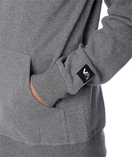 RVCA Big RVCA Heather Grey Hoodie