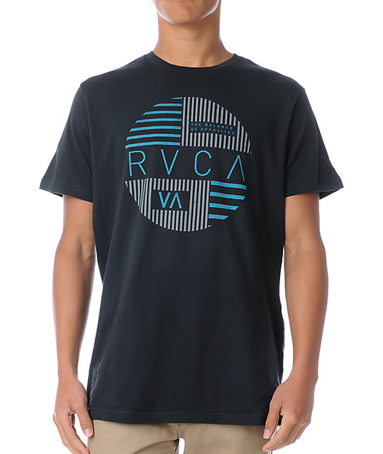 RVCA Blinds Black T-Shirt
