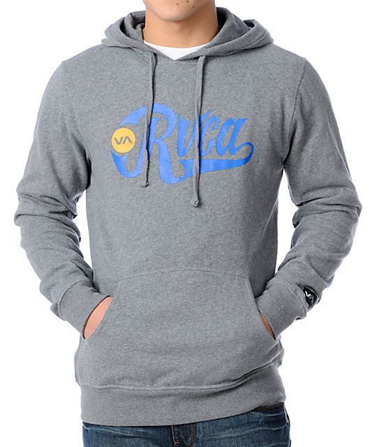 RVCA Bombers Grey Pullover Hoodie