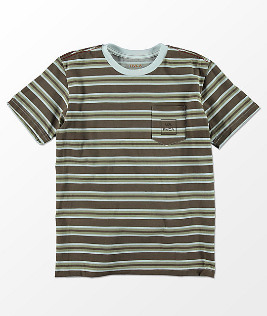 RVCA Boys 5 Stripe Antique White T-Shirt