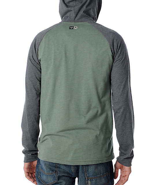 RVCA Castro Long Sleeve Green Hoodie