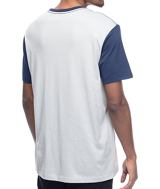 RVCA Change Up Two Tone Blue T-Shirt