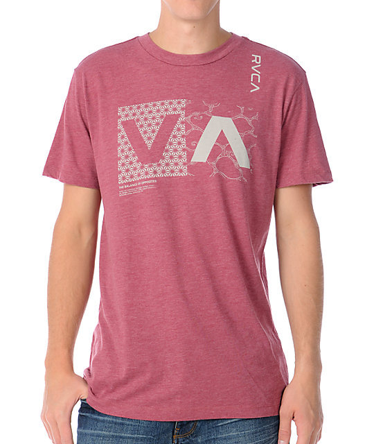 RVCA City Nature Red T-Shirt