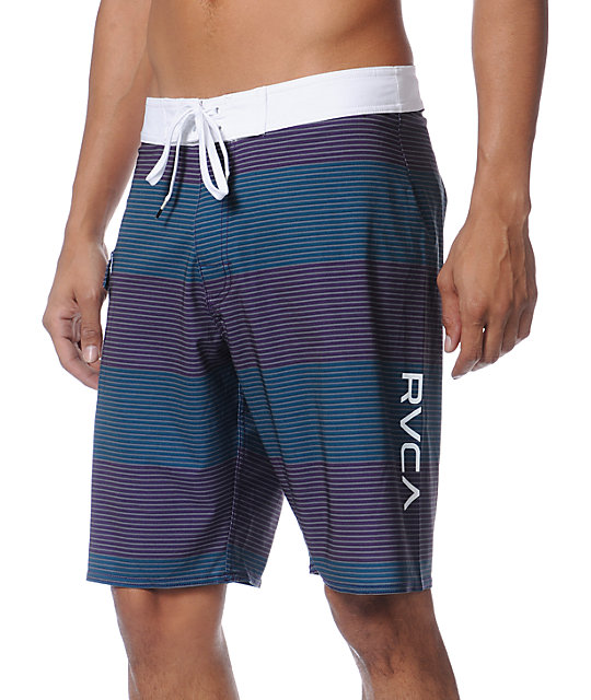 RVCA Civil Stripe Blue 20 Board Shorts