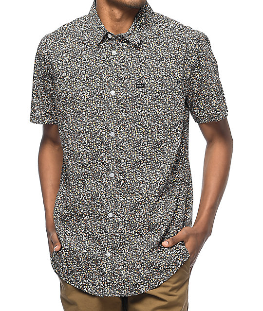 RVCA Cluster Mini camisa floral
