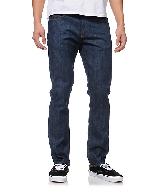 RVCA Daggers Extra Stretch Classic Blue Slim Fit Denim Jeans