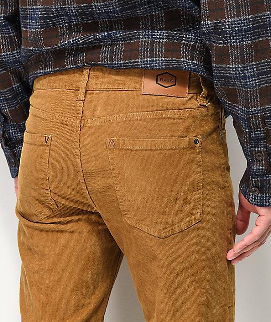 ... RVCA Daggers pantalones de pana caqui ... 0a61c35e942