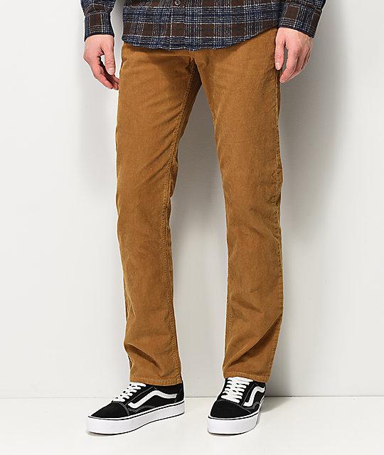 RVCA Daggers pantalones de pana caqui ... 5e012ef59fd