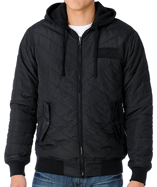 RVCA Deacon Black Reversible Jacket