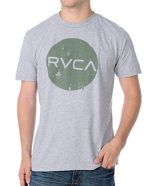 RVCA Dotty Grey T-Shirt