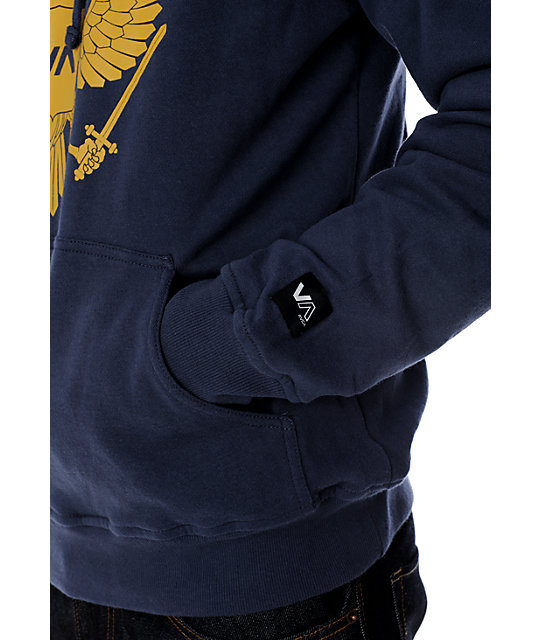 RVCA Double Eagle Navy Hoodie