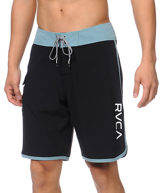 RVCA Eastern 20 Black & Teal Board Shorts