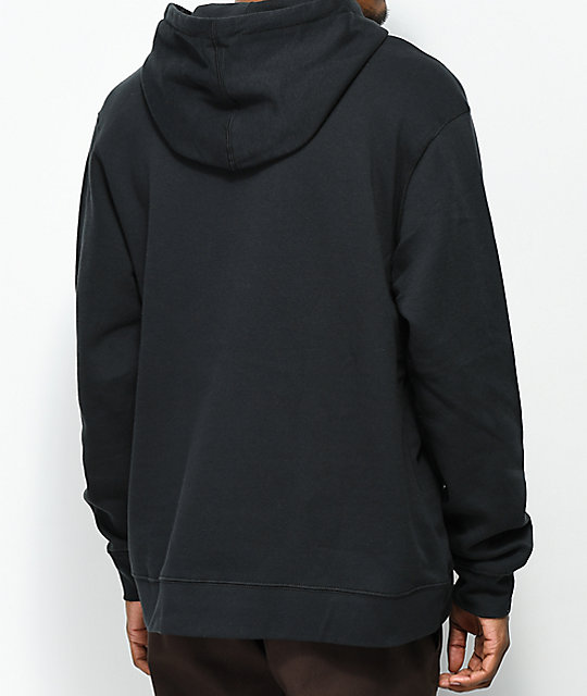 RVCA Flipped Box Black & Blue Hoodie