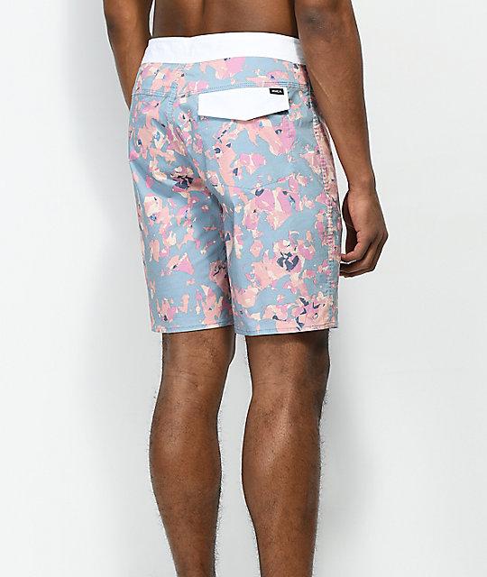 Shorts Pink Rvca Light Granite Floral Board Blueamp; rdxstQhC