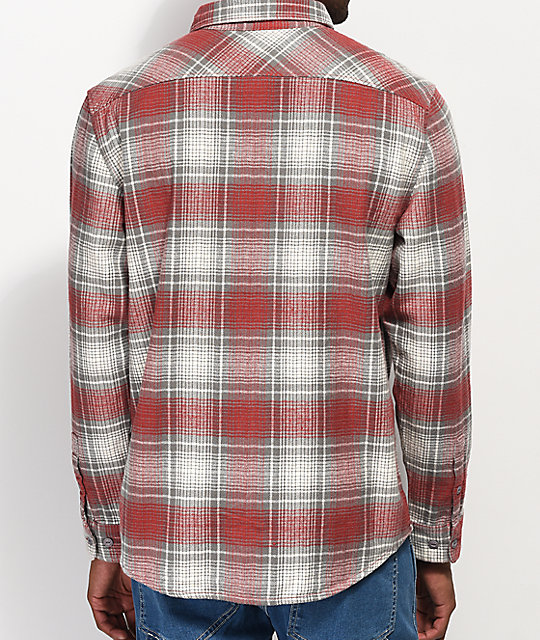 RVCA High Plains Red & Grey Flannel