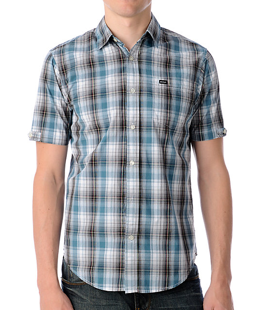 RVCA Hunter Point Blue Woven Shirt