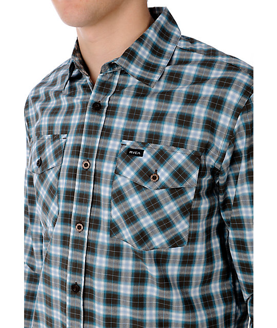 RVCA Intruder Brown Woven Shirt