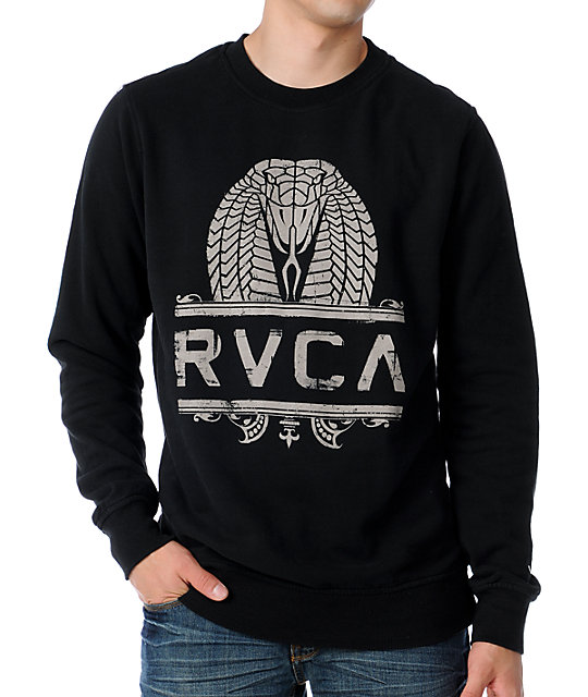 RVCA King Kobra Black & White Sweatshirt