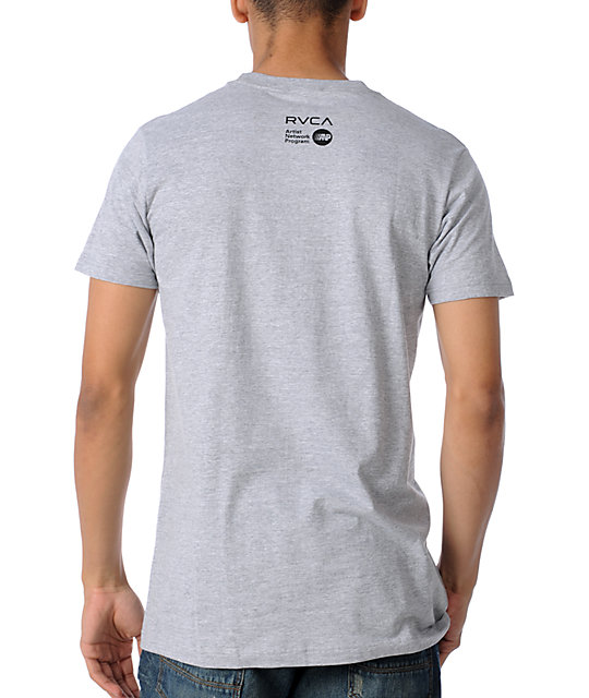 RVCA King Kobra Grey T-Shirt
