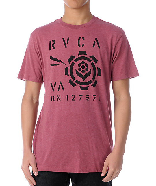 RVCA Last Stand Red T-Shirt