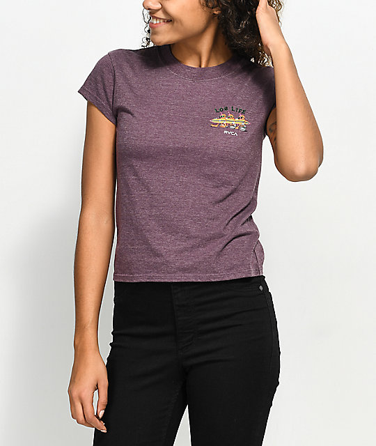 RVCA Log Life Purple T-Shirt
