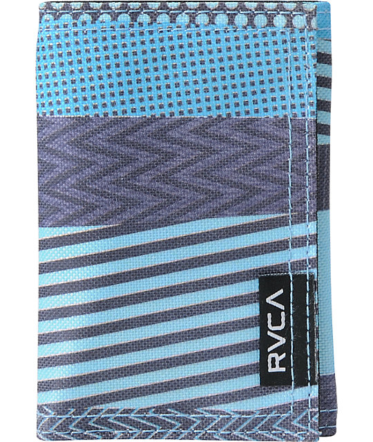 RVCA Mended Teal Tri-Fold Wallet