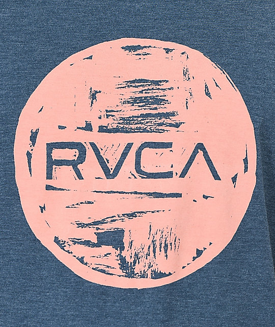RVCA Motors Ink Navy & Pink T-Shirt