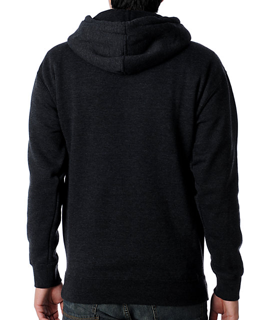 RVCA Nature Vs Industry Charcoal Pullover Hoodie