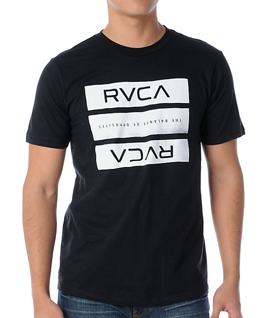 RVCA New Bars Black T-Shirt
