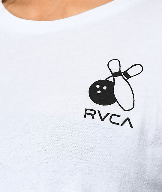 RVCA Pelletier Firing Pins White Long Sleeve T-Shirt