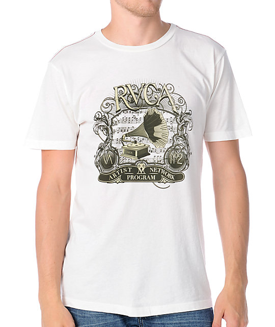 RVCA Phonograph White T-Shirt
